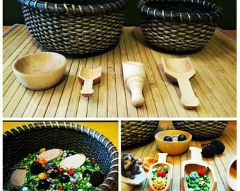 Garden Sensory Bowls, Waldorf, Montessori, Reggio Emilia, Sensory Bin