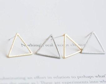 Gold / Silver Triangle Earrings geometric earrings