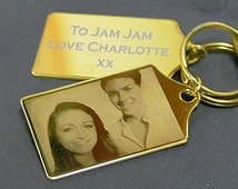 Keyring Personalized With Your Own Photo And Message