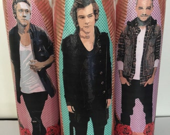 YOUR PICK! One Direction prayer candles. Harry styles prayer candle. funny gift idea. 1D colorful candles