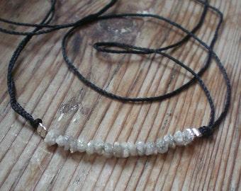 Raw diamond jewelry, stackable bracelet, diamond bracelet