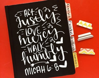 """DECAL ONLY! """"Micah 6:8""""  Vinyl Decal"""
