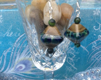 Earth Tones Lampglass Earrings