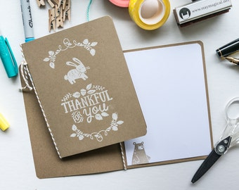 Thankful for You Thank You Card, Stampin Up Handmade Greeting Card