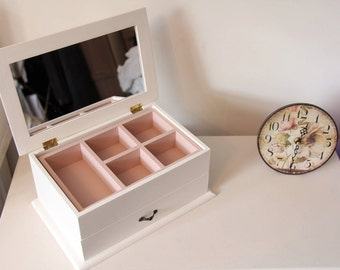 Girls Jewellery Box - Handpainted and personalised to your specifcations