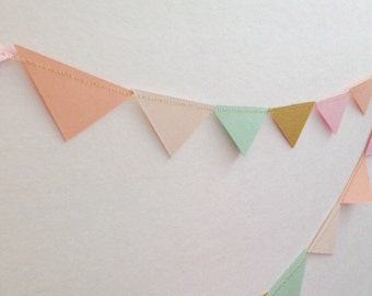 Mini Triangle garland- match your banner