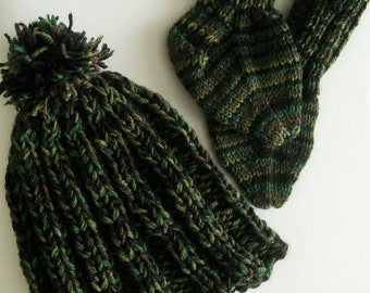 Baby Knitted Camo Set