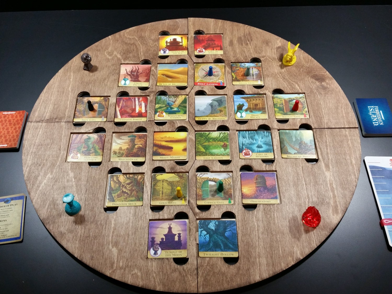 Forbidden Island Laser Cut Game Board To Hold The Tiles In