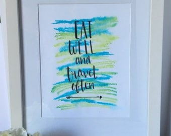 Watercolor Print with Frame