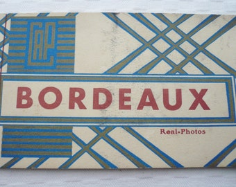 Book of 10 VINTAGE FRENCH photograph POSTCARDS, Vintage Postcards of Bordeaux, Black and White Photograph Postcards. Souvenir of Bordeaux.