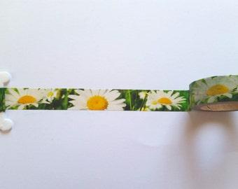 Daisies Washi Tape // Sample // Item #WT008