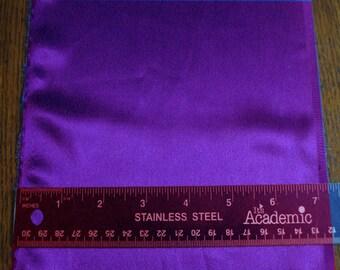 100% Silk Charmeuse - Sueded - Purple