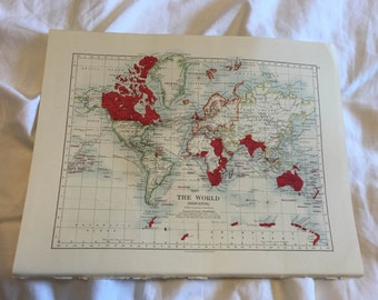 Antique world map & British Empire