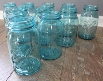 11 BLUE BALL Perfect Mason Jars