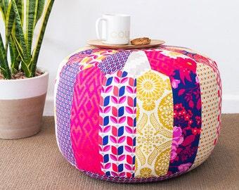 Patchwork Pouf PDF Sewing Pattern Moroccan Ottoman Pattern