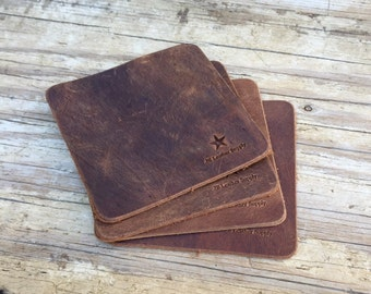 Coasters,frees shipping, leather coasters, bar accessories, drink accessories, 4 pcs