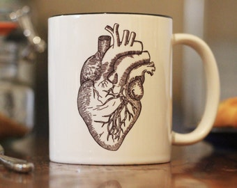 Anatomical Heart Illustrated 10oz Cup