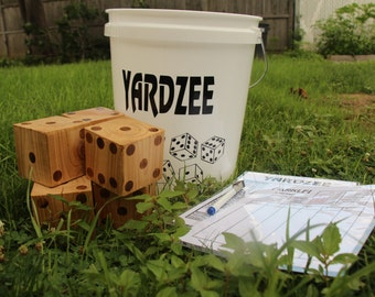 Oversized Yardzee and Farkle Giant Yard Dice Game, Backyard Games, Things to do at Summer Parties and Barbeques, Outdoor Games for Families
