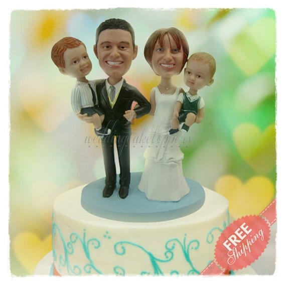 wedding cake toppers with children family wedding cake toppers personalised cake topper unique 26629