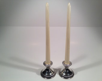 Vintage Sterling Silver Candle Stick Holders Circa 1950's