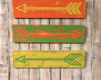 Arrow Pack (3) Distressed, Colorful Arrows
