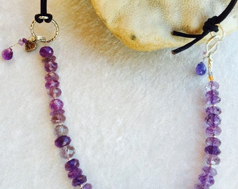 FEBRUARY's AMETHYST - Birthstone Necklace