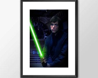 Luke Skywalker Jedi Knight - Star wars inspired Print - BUY 2 Get 1 FREE