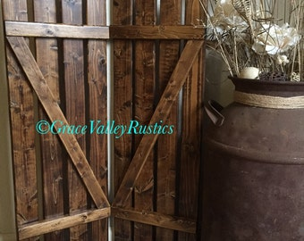 Rustic Shutters Wooden Home Decor Southern Farmhouse