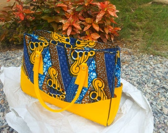 Efua Ghana Made Ankara handbag (yellow)