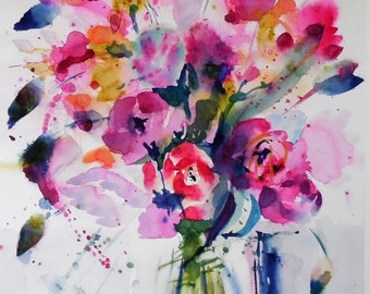 Flowers - original watercolor painting