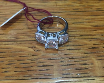 Vintage Faux Diamond Ring