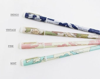 World map ball pen