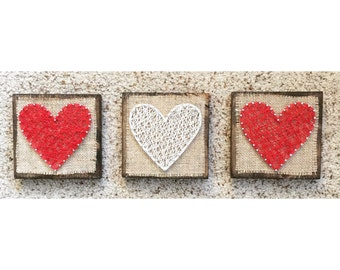 Burlap Heart string art
