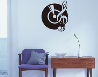 Black CD music personality decal,music style decal