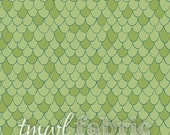 Woven Fabric - Scales in Green - Fat Quarter Yard +