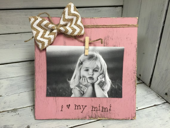 Grandmother Gift I Love Mimi Picture Frame Mimi By
