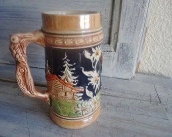 Collection beer mug,  Beer stein , Relief Decoration