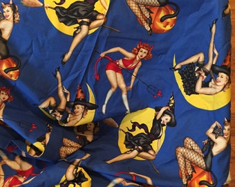 Bewitched~ Alexander Henry~ fabric pin  up witches