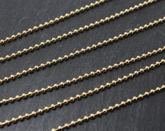 N0014/Anti-Tarnished Rhodium Plating Over Brass/2mm Ball Chain/2mm/1yard