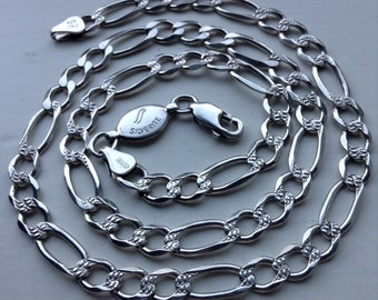 Vintage 925 Sterling Silver chain link necklace 20 inch
