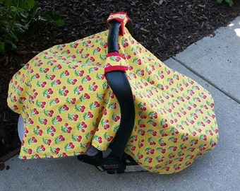 Cherries Jubilee Car seat canopy cover