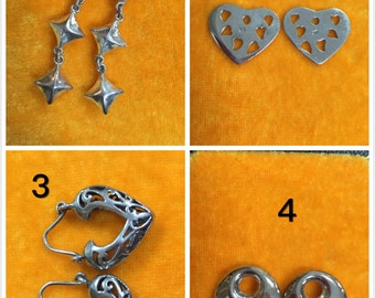 Ear Ring Accessories/Sterling silver/4 kinds