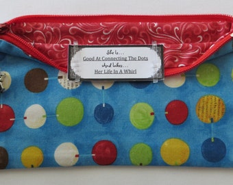 Persette #112 Personalized Zippered Organizing Pouch