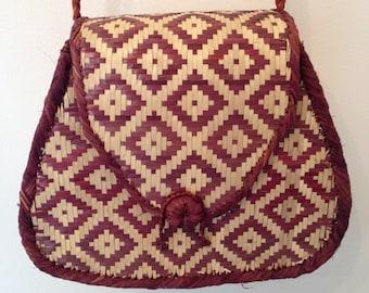 Vintage Rafia/ Wicker Bag