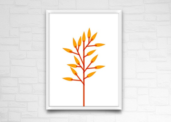 Minimal poster flower wall art instant download for Minimal art wall