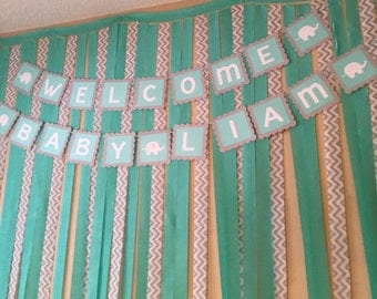 Elephant Welcome Baby Banner