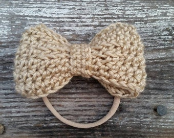 Big Baby Headband / Nylon Headband / Nude Baby Headband / Beige Baby Headband / Nude Nylon Headband / Nude Nylon Baby Headband