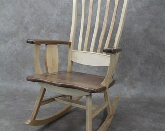 wine barrel rocking chair. Black Bedroom Furniture Sets. Home Design Ideas
