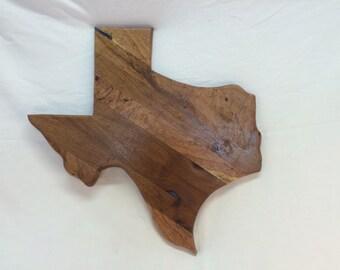 Texas shaped mesquite bread/cheese cutting board