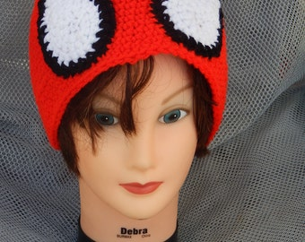Sale! 15 dollara Spider-man Inspired Crochet Adult Hat ( ask for other sizes)